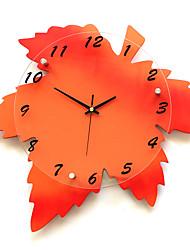 Moderne/Contemporain Niches Horloge murale,Autres Verre / Bois 41*44cm Intérieur Horloge