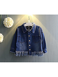 Girl's Casual/Daily Solid Blouse / JeansCotton Spring / Fall Black / Blue