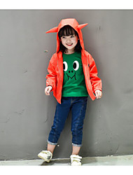 Girl's Casual/Daily Solid Suit & BlazerCotton Spring / Fall Black / Orange