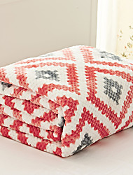 Coral fleece Pink,Yarn-dyed Gingham 70% Acrylic/30% Cotton Blankets S:150*200cm
