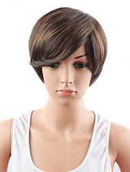 courtes perruques couleur synthétiques auburn pour les femmes