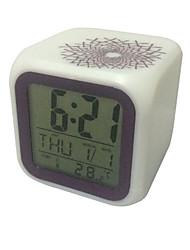 Creative Square Type Electronic Calendar Clock