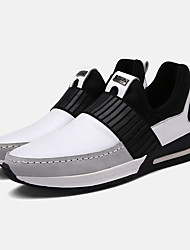 Femme-Sport-Noir Blanc-Talon Plat-Confort-Baskets-Polyuréthane