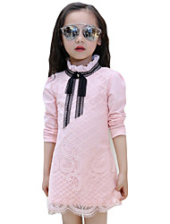 Girl's Casual/Daily Solid Dress,Lace Spring / Fall Long Sleeve