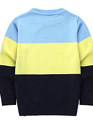Pull & Cardigan Garçon Décontracté / Quotidien Couleur Pleine Coton Automne Hiver Manches longues