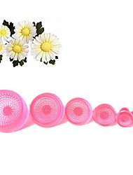 6Pcs/lot Daisy Flower Petal Cake Cutters Cake Decorating Tools Flower Cake Mold Fondant Cake Molds (Random Color)