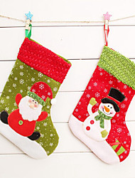 2PCS Christmas Christmas Stocking Christmas Stocking Christmas Gift Bag Christmas Tree Ornament(Style Random)