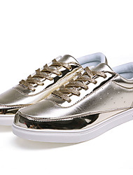 Men's Sneakers Spring Fall Comfort Glitter Casual Flat Heel Lace-up Black Silver Gold