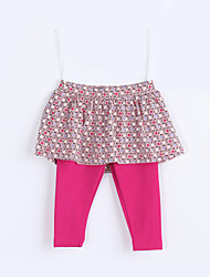 Baby Casual/Daily Print PantsCotton Fall Red
