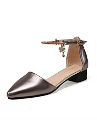 Women's Sandals Spring Summer Fall Comfort PU Casual Low Heel Buckle Gray Gold Other