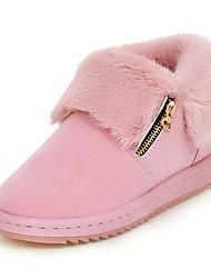 Women's Boots Fall / Winter Others Fur / Fleece Party & Evening / Dress / Casual Platform Fur / Zipper Black / Pink Others