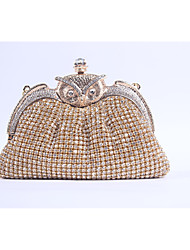 Women PU Formal / Event/Party / Wedding Evening Bag/Purse/Shimmering Diamonds Hand Bag/Rhinestones/Owl/Clutch/Bird