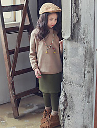 Girl's Casual/Daily Solid Dress / PantsPolyester Fall Green