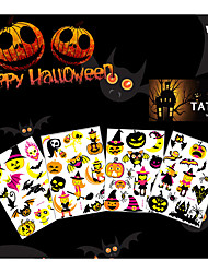 4 Tattoo Stickers Animal Series / Totem Series / Others / Cartoon SeriesNon Toxic / Pattern / Halloween / Lower Back / Waterproof / Glow