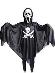 Ternos de Cosplay Inspirado por Fantasias Fantasma Anime Acessórios de Cosplay Capa / Máscara Preto Poliéster Unissexo