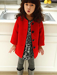 Girl's Casual/Daily Solid Down & Cotton PaddedCotton Winter Red