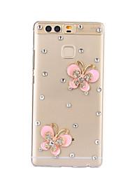 diy motif de papillon rose pc étui rigide pour p9 de Huawei Plus Lite honneur lite p8 8 7 6 6plus 5c 4x 5x 4a 4c s'accoupler 9 8 7
