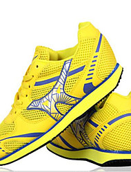 Women's Athletic Shoes Fall Comfort Tulle Casual Flat Heel Lace-up Blue Yellow Red Track & Field