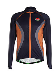 Sports Cycling Jersey Men's Long Sleeve Breathable / Thermal /Quick Dry / Front Zipper / Ultra Light Fabric Bike