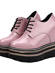 Women's Boots Creepers PU Casual Creepers Black Ruby Blushing Pink 3in-3 3/4in