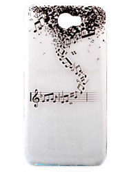 Music  Pattern Painted TPU Material Phone Case for Hawei Y5II  Y6 II
