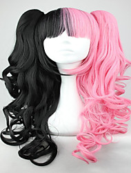 Mujer Pelucas sintéticas Sin Tapa Ondulado Negro/Rojo Peluca con trenzas Trenzas africanas Peluca de cosplay Peluca lolita Las pelucas