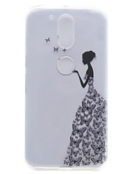Little Girl Pattern High Permeability TPU Material Phone Shell For Motorola G4 Plus X1