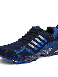 Running Shoes Men's Athletic Shoes Comfort Breathable Mesh Fabric Tulle Fall Winter Athletic Outdoor  Lace-up Flat HeelBlack/White Green Navy