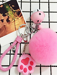 Rex Rabbit Fur Ball Soft Handbag Key Chain