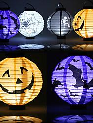 1 computadora personal decoraciones de Halloween de papel linterna de calabaza de Halloween linterna fuentes de los apoyos del partido al