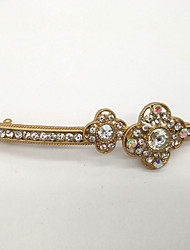 Women Gold Plated / Rhinestone Hair Clip,Vintage / Party / Work / Casual
