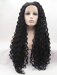 Sylvia Synthetic Lace front Wig Natural Black Hair Heat Resistant Long Curly Synthetic Wigs For Black Women