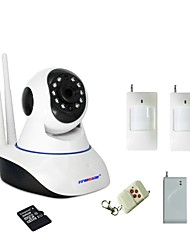 WIFI Burglar Alarm IP Camera Built-in 32GB SD Card With 1 Wireless Door Magnetic Sensor 1 PIR Motion Detector