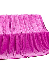 Coral fleece Purple,Solid Solid 100% Polyester Blankets 200x230cm