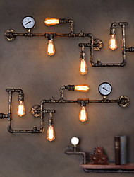 Loft Industrial Wall Lamps Antique Edison Wall lights with Bulbs E26/E27 Vintage Pipe Wall Lamp for Living Room Lighting