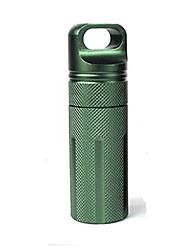 Pill Case Camping / Travel / Outdoor Waterproof Aluminium Alloy Green / Black / Orange