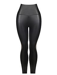 Women's PU Medium Print Legging