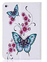 Pour Porte Carte / Avec Support / Clapet / Motif Coque Coque Intégrale Coque Papillon Dur Cuir PU Apple iPad Mini 4 / iPad Mini 3/2/1