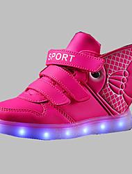 Para Meninos-Botas-Conforto Light Up Shoes-Rasteiro-Azul Branco Dourado Coral-Couro Ecológico-Ar-Livre Casual Para Esporte