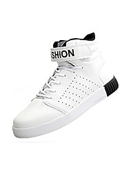Men's Sneakers Spring / Fall Comfort Fabric Casual Flat Heel  Black / White / Black and Red / Black and White Sneaker