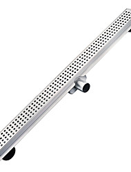 L 600mm Stainless Steel 304 Linear Horizontal Shower Drain with Surrounding Tile Flange,Waste,Channel with Side Outlet