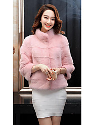 Spot 2016 new winter coat female mink whole Diaoqiu leather collar short paragraph Sleeve
