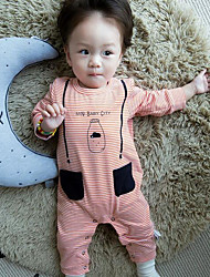 Baby Casual/Daily Striped Clothing Set-Cotton-Spring-Pink / Gray