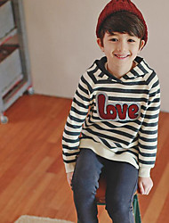 Boy's Casual/Daily Striped Clothing SetCotton Winter / Fall Gray