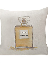 Polyester Decorative Cushion Pillow Cover Perfume Bottle Sofa Home Decor 45x45cm