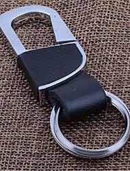 cadeia de chave de carro criativo homens e mulheres da cintura ligado à corrente chave da chave de couro anel de metal