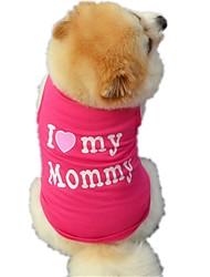 Katzen Hunde T-shirt Weste Hundekleidung Winter Sommer Frühling/Herbst Buchstabe & NummerNiedlich Geburtstag Urlaub Modisch