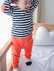 малыш Брюки,На каждый день,Однотонный,Хлопок,Весна,Синий / Оранжевый