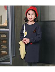 Girl's Casual/Daily Print Dress / Hoodie & SweatshirtCotton Fall Blue