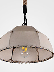 40w Pendant Light ,  Country Painting Feature for Designers Metal Living Room / Bedroom / Study Room/Office / Kids Room